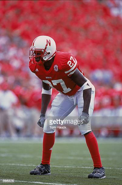 Willie Amos of the Nebraska Cornhuskers in action during the game against the Texas Christian Horned Frogs at Memorial Stadium in Lincoln Nebraska...