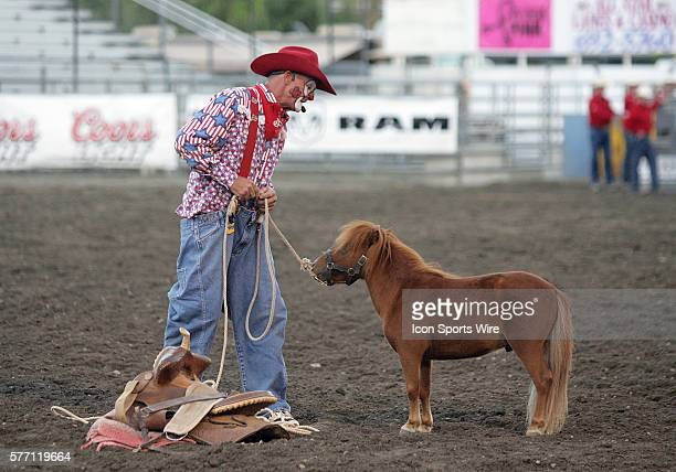 Rodeo clown Keith Insley entertained the crowed in attendance with his rodeo skit at the Kitsap County Stampede Wrangle Million Dollar PRCA Silver...