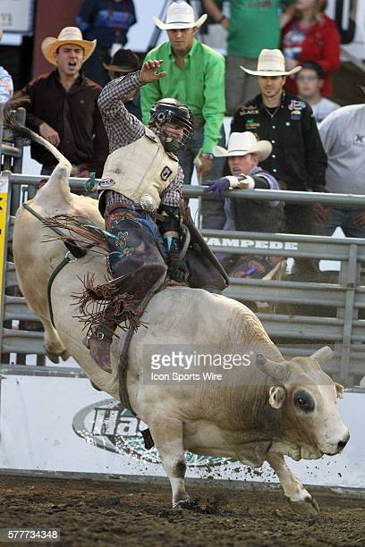 Cain Smith riding the bull Game Face scored a 795 during the third round of the Seminole Hard Rock Extreme Bulls competition at the Kitsap County...