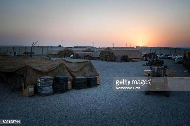02 Aug 2015 a view of the Italian Army military base inside the Coalition base in Erbil capital city of Iraqi Kurdistan At present an Italian...
