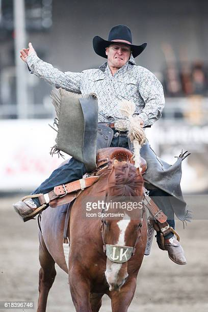 Cooper DeWitt riding the horse Boogers Pet scored a 70 during the Saddle Bronc Riding competition at the Kitsap County Fair and Stampede in Bremerton...