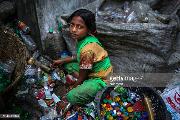 Aug 29 2015 Dhaka Bangladesh There are many plastic bottle recycle factory located in Dhaka Bangladesh where people from different age group works...