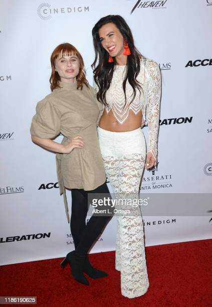 Augie Duke and Natalie Burn arrive for the Premiere Of Acceleration held at AMC Broadway 4 on November 5 2019 in Santa Monica California