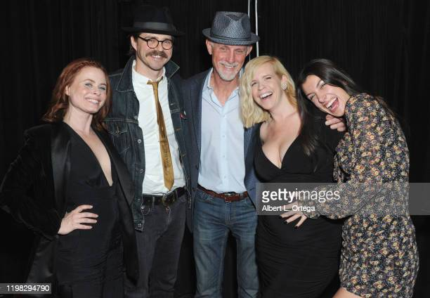 Augie Duke Nathan Sutton Andy Umberger Bethany Brooke Anderson and Emilie Dhir attend the Premiere Of Burning Kentucky held at Fine Arts Theatre on...