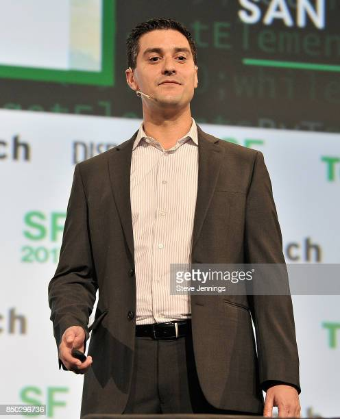 Augmedics CoFounder and CEO Nissan Elimelech participates in the Startup Battlefield finals during TechCrunch Disrupt SF 2017 at Pier 48 on September...