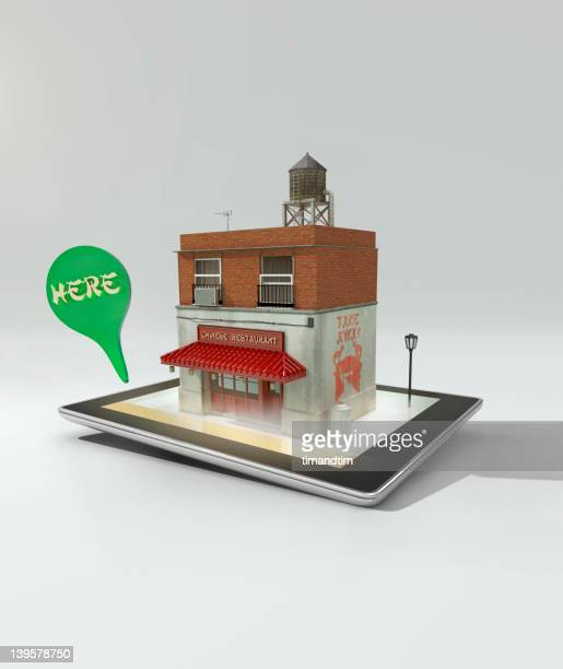 augmented reality on a tablet computer - pop up store stock pictures, royalty-free photos & images