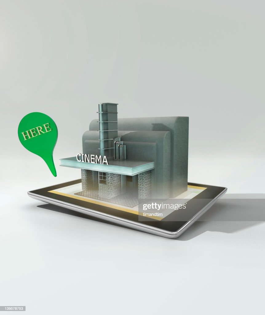 Augmented reality on a tablet computer : Stock Photo