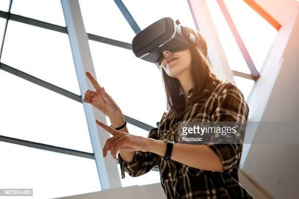 拡張現実感 - 仮想空間の視点 ストックフォトと画像