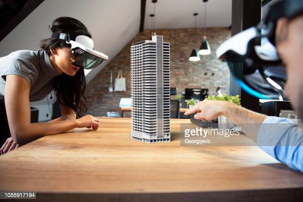 augmented reality project - virtual reality simulator stock photos and pictures