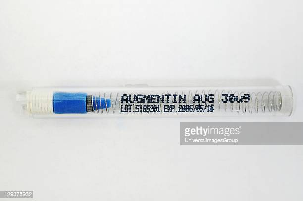 Augmentin is combined drug containing Amoxicillin and Clavulanic acid It is used to treat infections caused by bacteria