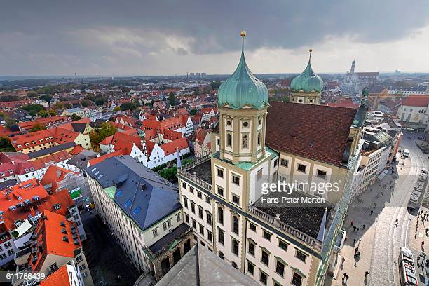 augsburg, city hall and centre - augsburg stock pictures, royalty-free photos & images