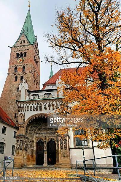 augsburg, hoher dom cathedral - augsburg zwaben stockfoto's en -beelden