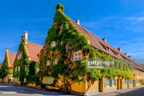 augsburg, the fuggerei (bavaria, germany) - augsburg stock pictures, royalty-free photos & images