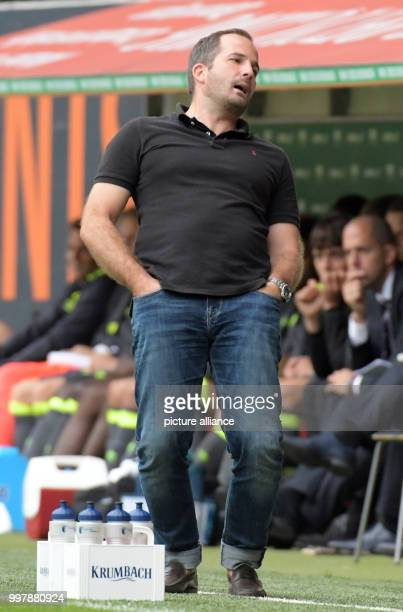 Augsburg's coach Manuel Baum during the football friendly match between FC Augsburg and PSV Eindhoven at the WWKArena in Eindhoven, Netherlands, 06...