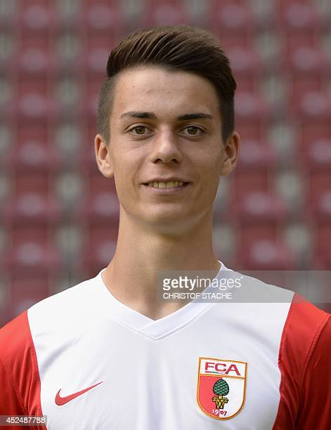 Augsburg's Erik Thommy poses during the team presentation of the German first division Bundesliga team FC Augsburg at the stadium in Augsburg...