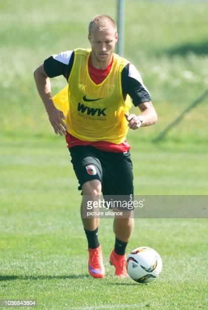 Augsburg's Ragnar Klavan in action at the training camp of German Bundesliga soccer club FC Augsburg in Koessen Austria 20 July 2015 Photo Daniel...