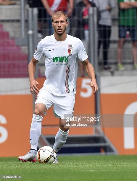 Augsburg's Ragnar Klavan in action during a friendly between German Bundesliga soccer club FCAugsburg and France's FCToulouse inAugsburg Germany...