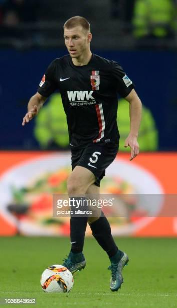 Augsburg's Ragnar Klavan in action during the German Bundesliga soccer match between Hamburg SV and FC Augsburg at Volksparkstadion in Hamburg...