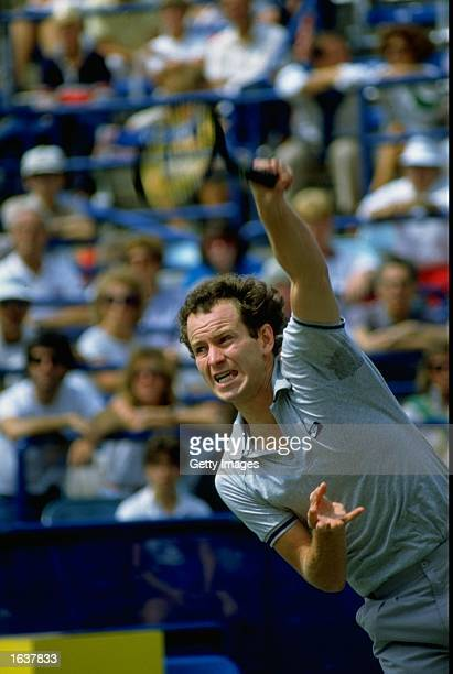 John McEnroe of the USA in action during the US Open at Flushing Meadow in New York USA Mandatory Credit Allsport UK /Allsport