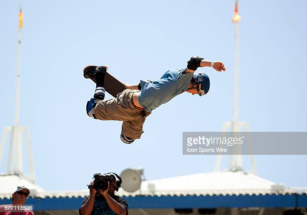 Adam Taylor competes in the Maloof Money Cup 2010 Carl's Jr Pro Vert Contest at the Action Sports Arena inside the Orange County Fair in Costa Mesa CA