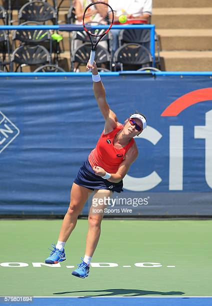 Samantha Stosur during a WTA second round match against Irina Falconi at the CITI Open tennis tournament at Rock Creek Tennis Center in Washington...