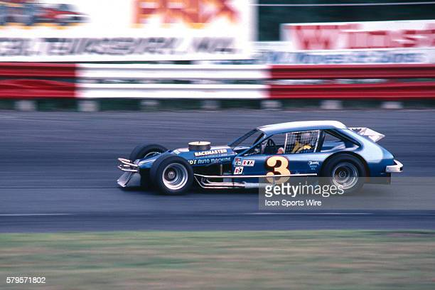 Ron Bouchard Len Boehler Ford Pinto Modified practices for the 8th Annual Winston 100 NASCAR Winston Racing Series Modified event at Stafford Motor...