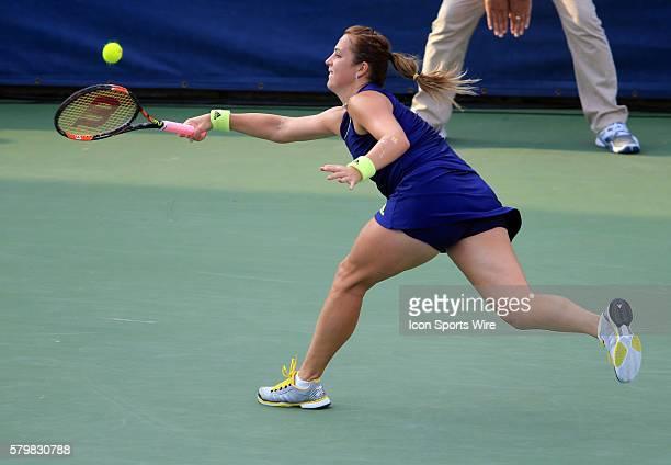 Anastasia Pavlyuchenkova during the WTA women's singles final against Sloane Stephens at the CITI Open tennis tournament at the Rock Creek Tennis...