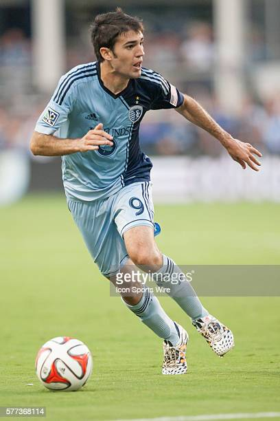 Sporting KC midfielder Antonio Dovale during the MLS game between the Philadelphia Union and Sporting KC at Sporting Park in Kansas City, Kansas. The...
