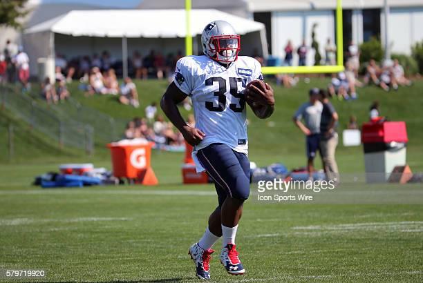 New England Patriots running back Jonas Gray during the New England Patriots practice session for training camp