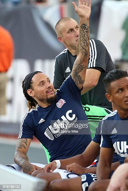 New England Revolution midfielder Jermaine Jones waves to the fans. The New England Revolution defeated Toronto FC 3-1 in a regular season MLS match...