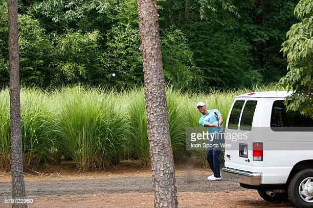 Tiger Woods during the third round of the Quicken Loans National at Robert Trent Jones Golf Course in Gainesville, Virginia.