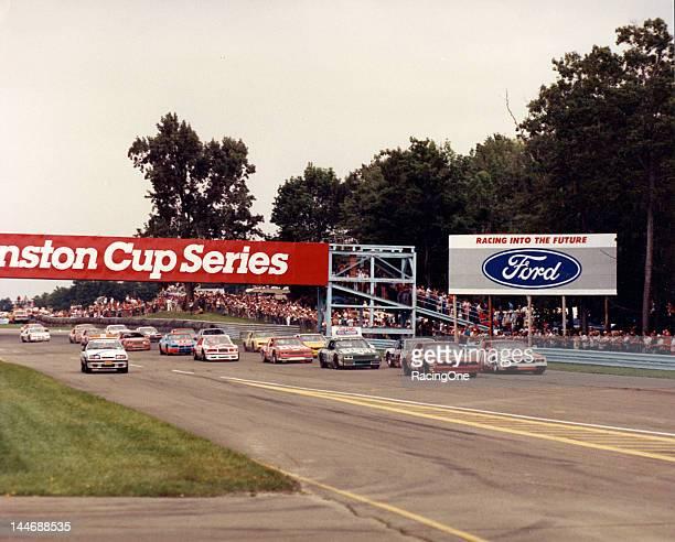 August 10, 1986: The field gets set for the start of the Budweiser at the Glen NASCAR Cup race at Watkins Glen International. Tim Richmond starts...