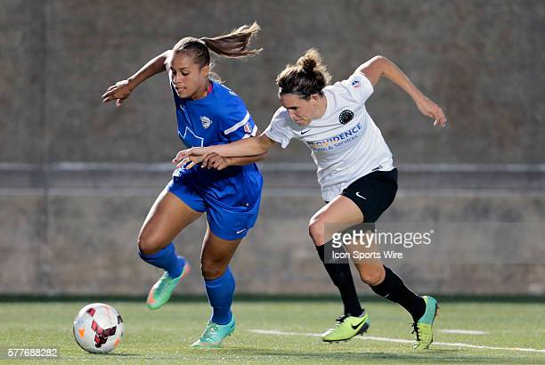 Boston Breakers' Jazmine Reeves tries to get around Portland Thorns FC's Emily Menges The Boston Breakers defeated the Portland Thorns FC 20 in a...