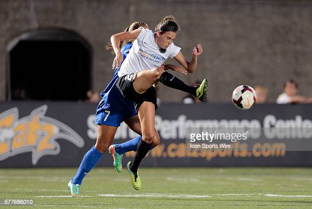 Portland Thorns FC's Emily Menges clears the ball from Boston Breakers' Jazmine Reeves The Boston Breakers defeated the Portland Thorns FC 20 in a...