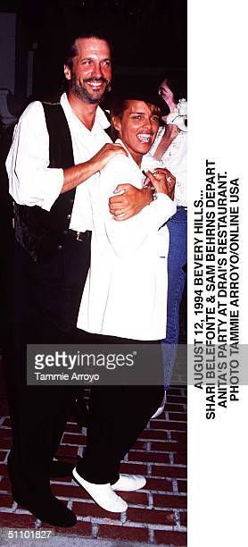 August 12 1994 Beverly Hills Shari Belafonte And Sam Behrens Arrive At Anita Baker's Post Concert Party At Trendy Drais In Beverly Hills
