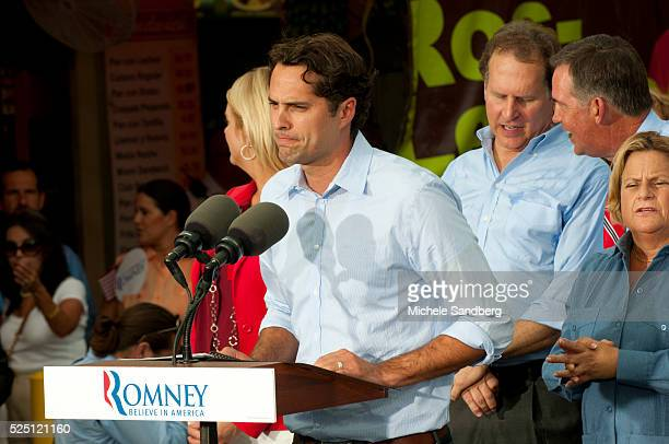 August 13 2012 CRAIG ROMNEY SPEAKS WITH PAM BONDI MITT ROMNEY LINCOLN DIAZBALART Mitt Romney Campaigns in South Florida On His Bus Tour For A...