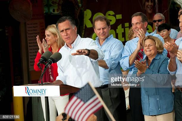 August 13 2012 PAM BONDI ILEANA ROSLEHTINEN LINCOLN DIAZBALART JEFF ATWATER MITT ROMNEY MARIO DIAZBALART Mitt Romney Campaigns in South Florida On...
