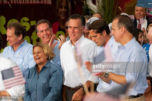 August 13 2012 PAM BONDI MARCO RUBIO ILEANA ROSLEHTINEN LINCOLN DIAZBALART JEFF ATWATER MITT ROMNEY AND SON CRAIG MARIO DIAZBALART Mitt Romney...