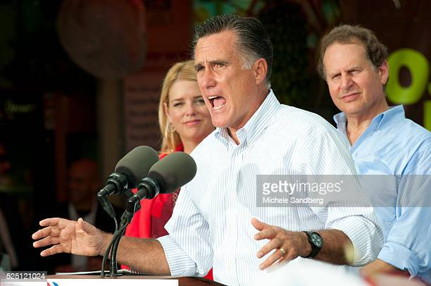 August 13 2012 PAM BONDI MITT ROMNEY LINCOLN DIAZBALART Mitt Romney Campaigns in South Florida On His Bus Tour For A Stronger Middle Class IN The...
