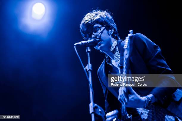a American indie rock band Car Seat Headrest performs on stage during Ypsigrock Festival on August 11 2017 in Castelbuono Palermo Italy