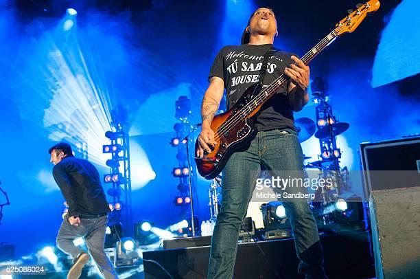 August 14 2015 Bassist Sergio Vega of Deftones performs at Perfect Vodka Amphitheatre in West Palm Beach Florida