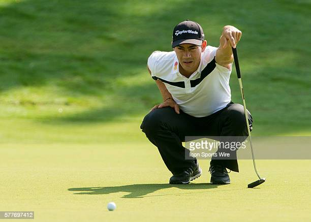 Camilo Villegas during the second round of the Wyndham Championship at Sedgefield Country Club in Greensboro, NC.