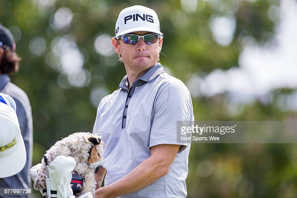 Heath Slocum during the second round of the Wyndham Championship at Sedgefield Country Club in Greensboro, NC.