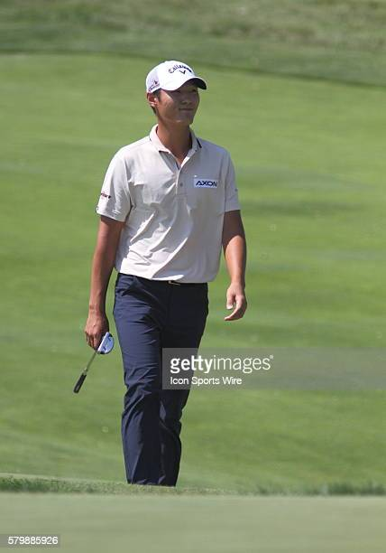 Danny Lee of New Zealand walks up the sixth fairway during the third round of the PGA Championship at Whistling Straits in Kohler WI