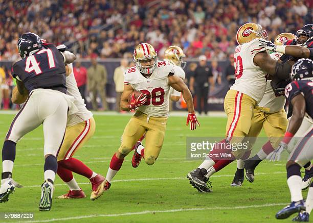 San Francisco 49er free safety Jermaine Whitehead during the NFL preseason game between the San Francisco 49ers and Houston Texans at NRG Stadium in...