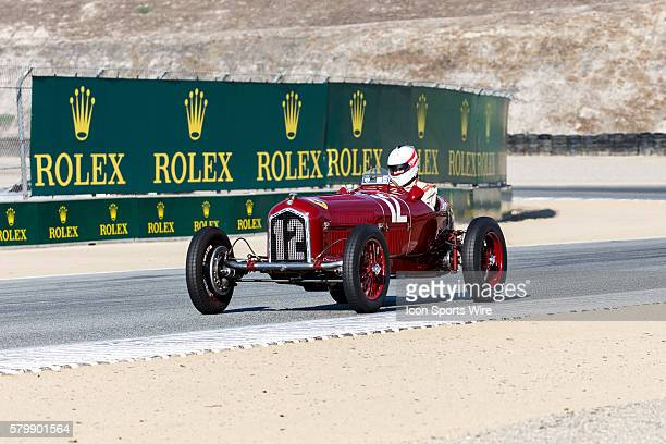 A 1934 Alfa Romeo Tipo B driven by Jon Shirley from Medina WA USA competed in Group 1B during the Rolex Monterey Motorsports Reunion held August...