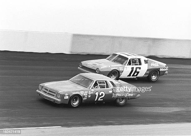 Neil Bonnett driving Bobby Allison's Chevrolet battles with his boss who was driving Roger Penske's No 16 AMC Matador during the Talladega 500 NASCAR...
