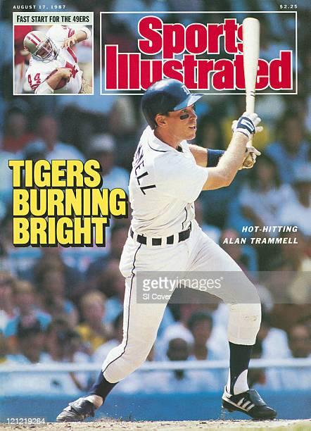 Baseball Detroit Tigers Alan Trammell in action at bat vs New York Yankees Inset Football San Francisco 49ers Tom Rathman vs Kansas City Chiefs...