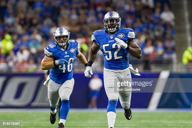 Detroit Lions linebacker Antwione Williams during game action between the Cincinnati Bengals and the Detroit Lions during a preseason game played at...