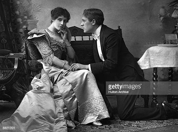 Mrs Patrick Campbell with Sir George Alexander in 'The Second Mrs Tanqueray' Original Publication The Theatre pub 1893